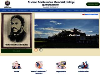 madhusudancollege.in screenshot