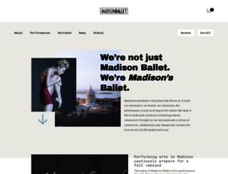 madisonballet.org screenshot