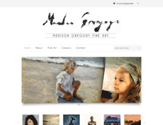 madisongregoryfineart.com screenshot