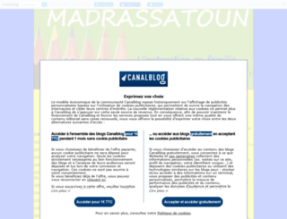 madrassatoun.canalblog.com screenshot