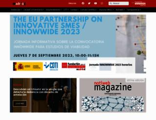 madrimasd.org screenshot