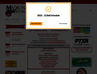 madrona.tusd.org screenshot