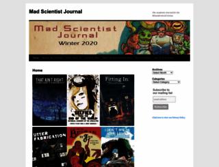 madscientistjournal.org screenshot