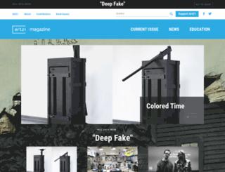 magazine.art21.org screenshot