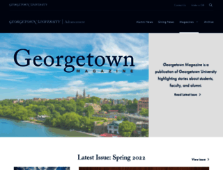 magazine.georgetown.edu screenshot