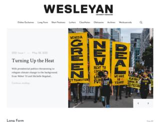 magazine.wesleyan.edu screenshot