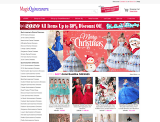 magicquinceanera.com screenshot