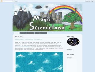 magicscienceland.com screenshot