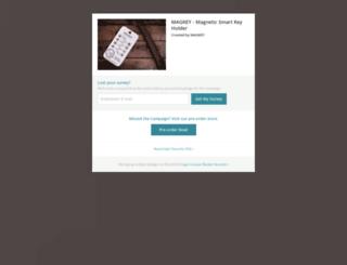 magkey-smart-key-holder.backerkit.com screenshot