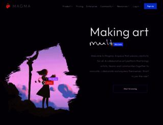 magma.com screenshot