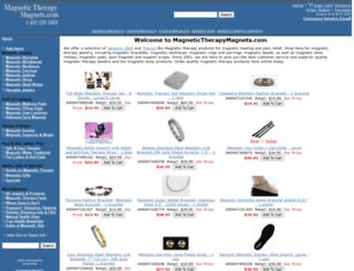 magnetictherapymagnets.com screenshot