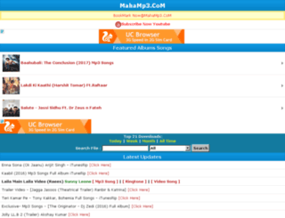 mahamp3.com1.mobi screenshot