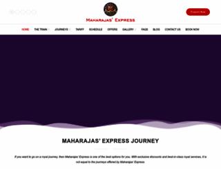 maharajas-express-india.com screenshot