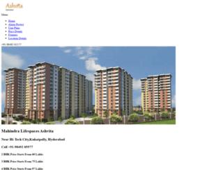 mahindralifespacesashvita.propladder.com screenshot