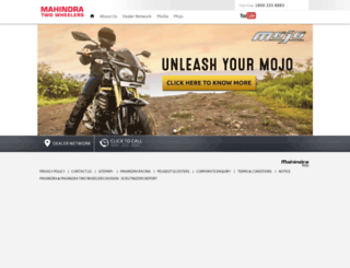 mahindratwowheelers.com screenshot
