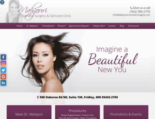 mahjouricosmeticsurgery.com screenshot