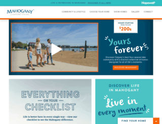mahoganyliving.com screenshot