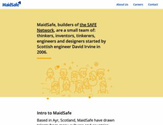 maidsafe.net screenshot