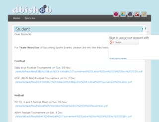mail.dbis.edu.hk screenshot