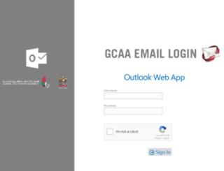 mail.gcaa.ae screenshot