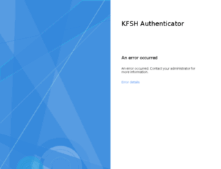 mail.kfshrc.edu.sa screenshot