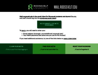 mail.roosevelt.edu screenshot