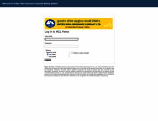 mail.uiic.co.in screenshot