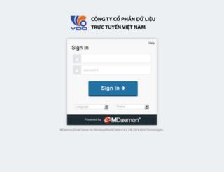 mail.vdo.com.vn screenshot
