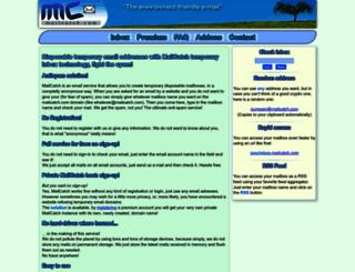 mailcatch.com screenshot
