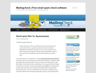 mailingcheck.com screenshot