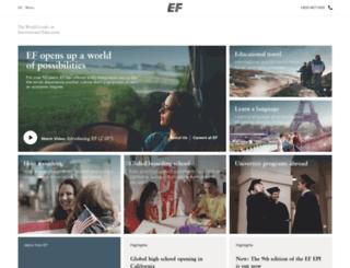mailings.ef.com screenshot