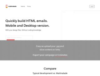 mailmalade.com screenshot