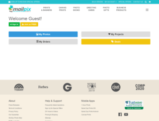 mailpix.mailpix.com screenshot