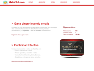mailsclub.com screenshot