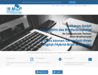 mailtoprint.de screenshot