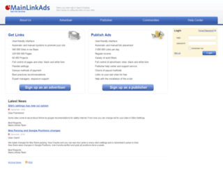 mainlinkads.com screenshot