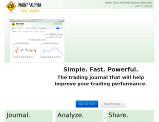mainstreetalpha.tradervue.com screenshot