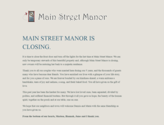 mainstreetmanor.com screenshot