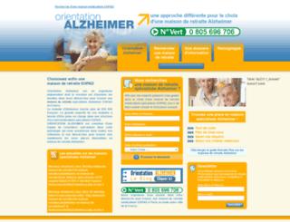 maison-de-retraite-alzheimer.fr screenshot