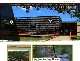 maison-nature-brenne.fr screenshot