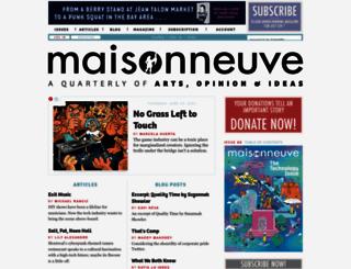 maisonneuve.org screenshot