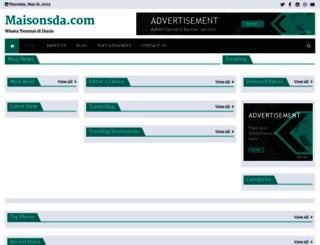 maisonsda.com screenshot