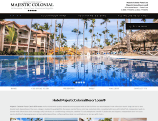 majesticcolonialresort.com screenshot