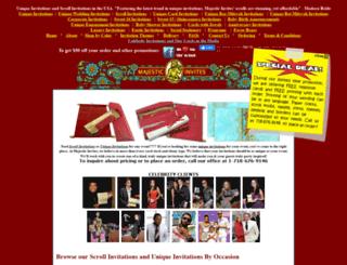 majesticinvites.com screenshot
