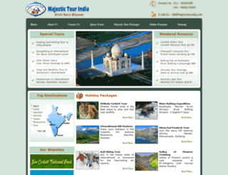 majestictourindia.com screenshot