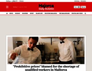 majorcadailybulletin.com screenshot