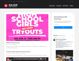 majorprepsports.com screenshot