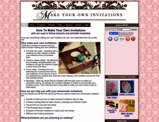 make-your-own-invitations.com screenshot