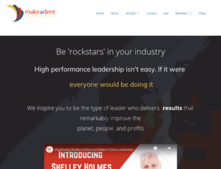 makeadentleadership.com screenshot