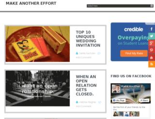 makeanothereffort.com screenshot